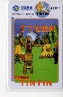 Télécartes Tintin - Tintin En Amérique - BD