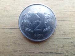 Inde  2 Rupees  2011  Km 395 - Inde