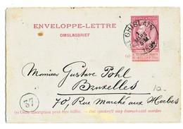 1894 ENVELOPPE-LETTRE  VAN St GHISLAIN NAAR BRUXELLES1 ZIE SCAN(S) - Stamped Stationery