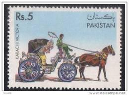 PAKISTAN 1995 TRADITIONAL MEANS OF TRANSPORT KARACHI VICTORIA, Horses, 1v MNH - Pakistan