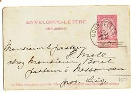 1896 ENVELOPPE-LETTRE  VAN COURCELLES NAAR NESSONVAUX ZIE SCAN(S) - Stamped Stationery