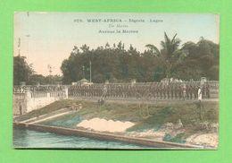 CPA  NIGERIA  ~  LAGOS  ~   979  Avenue La Marina  ( Portier 1911 ) 2 Scans - Nigeria
