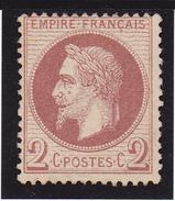 """Lauré"" N° 26B Neuf (*)  - Voir Verso & Descriptif - - 1863-1870 Napoleon III With Laurels"