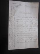 1874 Manuscrit Bill Of Lading Connaissement Ordre Consulat PORTOTORES Sardaigne Bateau Vapeur Lettre à Capitaine Fontan - Manuscrits