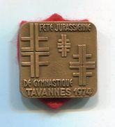 PA154 INSIGNE SUISSE GYMNASTIQUE TAVANNES 1974 - Gymnastics