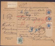 Sweden Adresskort Till Paketpostförsändelse Freight Bill Bulletin D'Expedition GÖTEBORG 1888 KJØBENHAVN Denmark (2 Scans - Schweden