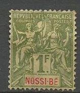 NOSSI-BE YVERT N° 39 NEUF(*) CHARNIERE TB  / MH - Nossi-Bé (1889-1901)