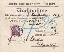 SUISSE. LETTRE. 25.10.13. EMMENTHALER NACHRICCHTEN MÜNFINGEN - Schweiz