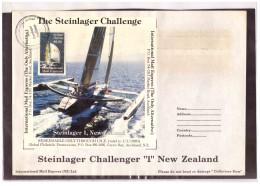 "AU191   -   INTERNATIONAL MAIL EXPRESS  $ 3,50   MINIATURE STAMP SHEET    /   COVER  "" STEINLAGER CHALLENGER -1- NEW ZEA - Errors, Freaks & Oddities (EFO)"