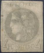 Stamp France  1870 4c Imperf - 1870 Emisión De Bordeaux