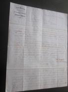 """1860 Manuscrit Bill Of Lading Connaissement Instructions Armement Mariti Bateau Vapeur""""Pithéas""""Lettre à Capitaine Fontan - Manoscritti"""