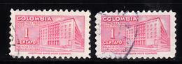 Colombia Toeslag 1948 Mi Nr 42 Postkantoor In In Bogotá - Colombia