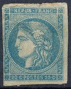 Stamp France  1870 20c Imperf - 1871-1875 Ceres