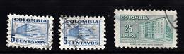 Colombia 1952 Mi Nr 637 + 639  Postkantoor In In Bogotá - Colombia