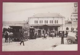 261117 B - PHOTO DE PRESSE Années 1920 1930 - LITUANIE - KAUNAS KOWNO - Gare  Hippomobile Cheval Autobus - Lithuania