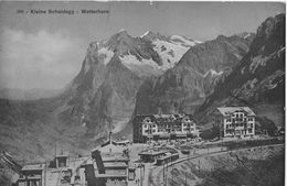 KLEINE SCHEIDEGG → Bahnhofgelände Mit Zug Und Den Hotels, Ca.1910 - BE Berne