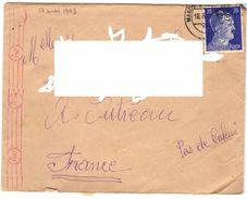 """1943 - Lettre Avec """"CENSURE Mécanique Ae"""" Prisonnier Francais D'Allemagne Vers Outreau (62) - Marcophilie (Lettres)"""