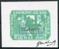 Gerald King Cinderella Alice In Wonderland / Looking Glass Railway Post 'Trial Only'  SIGNED - Cinderellas