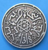 MAROC, 1 Dirham Abdul Aziz I, An 1318/1900, Paris, SUP - Marocco