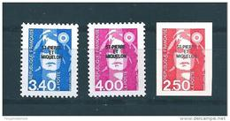 Timbres De St Pierre Et Miquelon  De 1992  N°555 A 557  Neufs ** Parfait Vendu Prix De La Poste - St.Pedro Y Miquelon