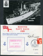 1989 GB H.M.S. Berkeley, Royal Navy Ship Cover + Photocard. Rosyth Navy Days SIGNED, NATO Edinburgh - Covers & Documents