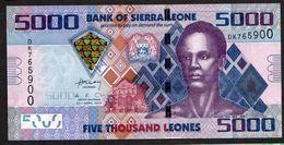 SIERRA LEONE : 5000 Leones - 2010  - UNC - Sierra Leone
