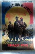 Reproduction Affiches 39 - 45 : Engagez - Vous Pour La Défense De L'Empire  1938 - Documents