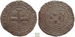 France - Blanc Guénar 5e émission Of Charles VII (1422 – 1461), Croix Cantonnée - 987-1789 Monnaies Royales