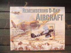 Avion De Guerre World War Aircraft Liberia Bloc 496 Yv. - Guerre Mondiale (Seconde)