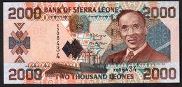 SIERRA LEONE : 2000 Leones - 2006 - UNC - Sierra Leone