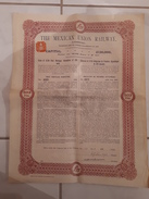ACTION TITRE COLLECTION: THE MEXICAN UNION RAILWAY. £ 20 - 1910 - Chemin De Fer & Tramway