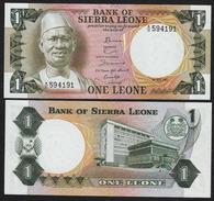 SIERRA LEONE : 1  Leone - 1981- UNC - Sierra Leone