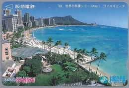 JP.- Japan, Telefoonkaart. Telecarte Japon. KANSAI. LAGARE CARD - Landschappen