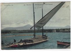 139. Genève - Déchargement D'une Barque - GE Genève