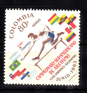 Colombia 1963 Mi Nr 1046 Atletiek, Hordeloper Postfris - Colombia