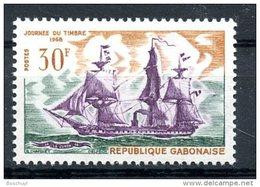 Gabon, 1968, Stamp Day, Sailing Ship, Tall Ship, MNH, Michel 315 - Gabon