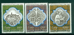 Vatican 1974 - Mi. N. 643/645 - Saint Bonaventure - Nuovi