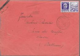 Ww2 1943 Prigionieri Di Guerra - Italia - Comando Tappa Principale 34 - Da Tarvisio Per Rasai (Belluno) - Prigione E Prigionieri