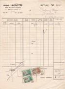 6536 Thuillies   André Lambotte  Facture De Boucherie 1953 Timbres Fiscaux - Frankrijk