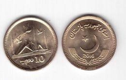 PAKISTAN 10 RUPEES 2016 FAISAL MOSQUE FDC UNC - Pakistan