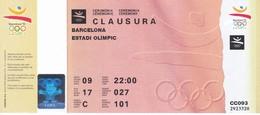 ENTRADA DE LA CEREMONIA DE CLAUSURA DE LAS OLIMPIADAS DE BARCELONA'92 EN EL ESTADI OLIMPIC (COBI) - Juegos Olímpicos