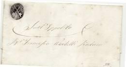 9852 PESARO URBINO REFORZATE X SANT IPPOLITO - ANNO 1863 - CON TESTO CON RICHIESTA LETTIGA X TRASPORTO CADAVERI - 1861-78 Victor Emmanuel II
