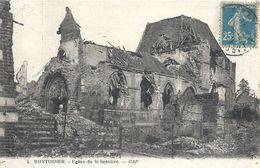 SOMME - 80 -MONTDIDIER - Eglise Du Saint Sépulcre - Guerre 14 - Montdidier