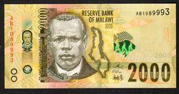 MALAWI  : 2000  Kwacha - 2016 - UNC - Malawi