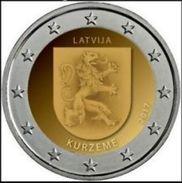 """Pièce  Commémorative  2 Euro Lettonie  2017 UNC  """" Régions Kurzeme """" - Lettonie"""