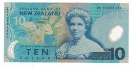 New Zealand, 10 Dollars,  F. Polymer Note. See Scan. - New Zealand
