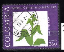 Colombia 1992 Mi Nr 1879 Schilderij Van Antonio Caro; Maisplant - Colombia