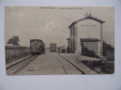 89 MONTACHER VILLEGARDIN La Gare Arrivée De L'express Train Chemin De Fer Départemental C.F.D. - Autres Communes