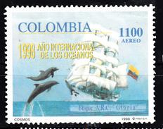 Colombia 1998 Mi Nr 2089  Zeilschip Gloria Met Dolfijnen - Colombia