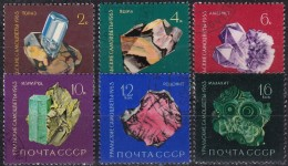 RUSSIA - Scott #2824-2829 Topaz / Complete Set Of 6 Used Stamps - Minerals